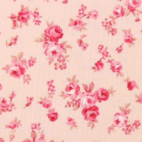 Pfirsichfarbener Stoff mit Rosen von Quilt Gate -