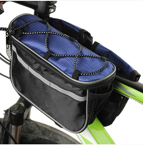 FAN4ZAME Fahrradtasche Vorderachse Mountainbike Vordere Tasche Wasserdicht Querträger Sattel Tasche A