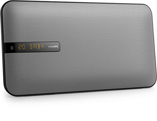 Philips BTB2670 Flat Stereoanlage mit DAB plus (Multipair, Bluetooth, UKW, Wandmontage, 20 W) schwarz