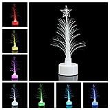 OULII Mini llevó árbol de Navidad decoración de mesa fiesta de...