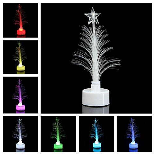 OULII Mini albero di Natale partito di cristallo Natale tavolo