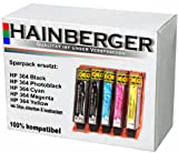 5 Hainberger XXL Patronen für HP 364 XXL inkl. Chip und Füllstandsanzeige