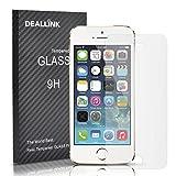 Deallink 9H Panzersglas 3D Touch Schutzfolie für Apple iPhone 5/5S/5C, mit Schöne Verpackung Perfekt als Geschenk