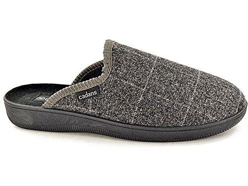 Foster Footwear ,  Jungen Unisex Erwachsene Herren Damen Flache Hausschuhe Grau