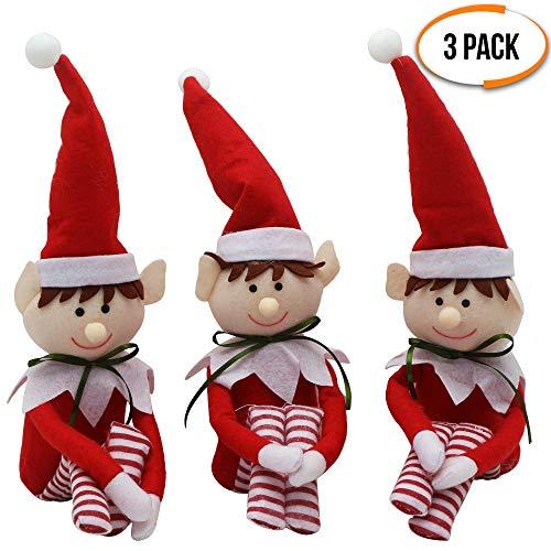 The Twiddlers 3 Weihnachtselfen - Ideal für Weihnachtsfeiern & saisonale Weihnachtsdekorationen - Ideal zum Aufhängen am Weihnachtsbaum oder Präsentieren, bis zu 48 cm