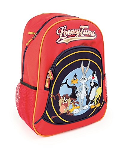 Looney Tunes Kinderrucksack Schulrucksack Schultasche | beeinhaltet zwei Netztaschen an den Seiten und viel Stauraum | optimale Polsterung der Tragegurte | Größe ca. 33 x 15 x 39 cm