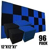 Confezione da 96 pannelli fonoassorbenti in schiuma per isolamento acustico, 30,5 x 30,5 x 2,5 cm