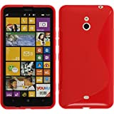 PhoneNatic Funda de silicona para Nokia Lumia 1320 - S-Style rojo - Cover Cubierta + protector de...