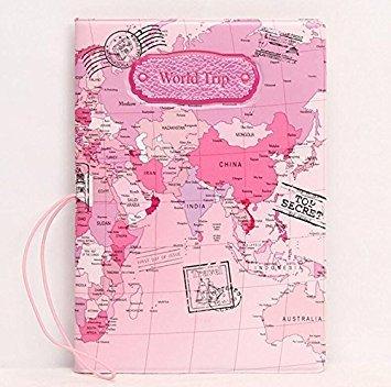 ulooie mundo mapa–Funda para pasaporte tarjeta billete bolsa de viaje caso