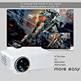Lucem LP03 LED Portable Bright Projector(2 years warranty)Supports 1080P
