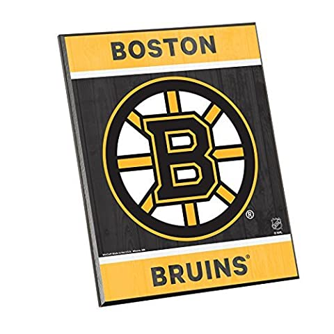 NHL Boston Bruins Wood Easel Sign, 8 x 10, Team Color by WINAV