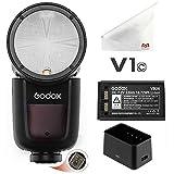 Godox V1-C - Flash para cámara Canon (TTL, con batería de 7,2 V y 2600 mAh, 1/8000s, HSS)