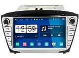 Roverone Android System 8 Zoll Doppel DIN Autoradio GPS für Hyundai ix35 Tucson 2014 2015 mit Navigation Radio Stereo DVD Bluetooth SD USB Touch Bildschirm