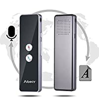 Aibecy Real-time Multi Language Translator Speech/ Text Translation Device with APP for Business Travel Shopping English Chinese French Spanish Japanese Arabic