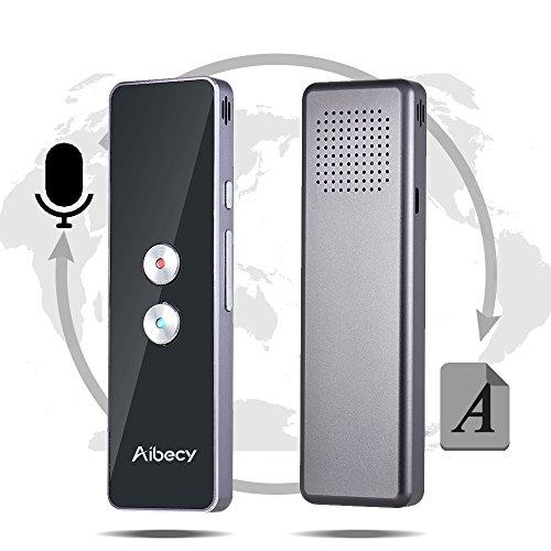 Aibecy Echtzeit-Multi-Language-Übersetzer Speech / Text Translation Device mit APP für Business Travel Shopping Englisch Chinesisch Französisch Spanisch Japanisch Arabisch (Englisch-spanisch-übersetzer-app)
