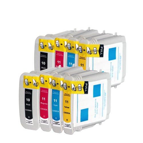 Premium 8er Set Kompatible Tintenpatronen Als Ersatz für Hp 10 XL + HP 11 XL Druckerpatronen (Schwarz , Cyan , Magenta , Gelb) 8x10-11-hp -