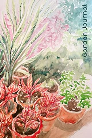 Garden Journal: Exotic Foliage Watercolor Gardening Journal, Lined Journal, Diary Notebook 6 x 9, 150 Pages