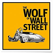 """JUNIQE® Poster 50x50cm Movies - Diseño """"The Wolf of Wall Street"""" (Formato: Square) - Láminas, Impresiones en papel & Imagenes por artistas independientes diseñado por Federico Mancosu"""