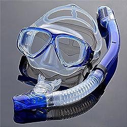 EnzoDate Optique Diving Gear Kit myopie Tuba situé, Force différente pour Chaque œil, Masque de plongée Top Sec Myope