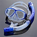 EnzoDate Optical Diving Gear Kit Myopia Snorkel Set, Different Strength for Each Eye, Nearsighted Dry Top Scuba Mask (Myopia 350)