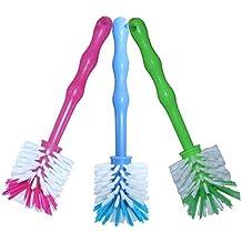 Spazzola lavapiatti con setole in nylon–ideale per la pulizia di boccali ad es. Bimby® TM5/TM31e di altri produttori, set da 3 pezzi 1x Blau/1x Grün/1x Pink