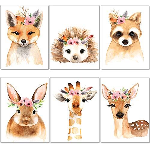 ter Kinderzimmer - A4 Bilder Babyzimmer - Boho Deko Mädchen Wandbilder (P39) ()