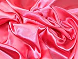 Liquid Satin Kleid Stoff hell rosa–Meterware