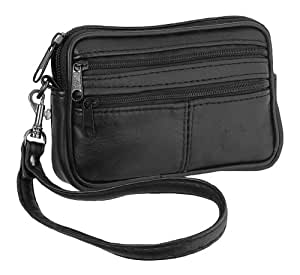 Lambland Genuine Soft Leather Money / Card / Key Pouch with Detachable Wrist Strap