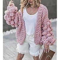 XMDXZWLA Coat Pullover 2018 Herbst Winter Laterne Ärmel Pullover Mantel Frau Mantel