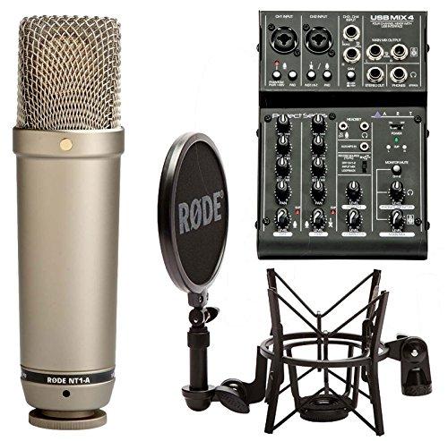 Rode NT1-A condensador Micrófono Set + Tipo USB de mesa de mezclas