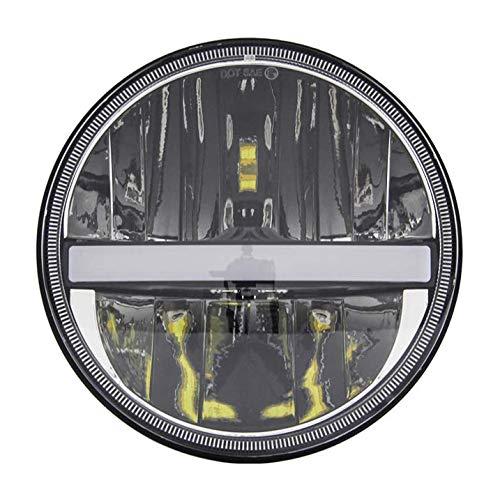 Fari LED tondi da 7'pollici con DRL con fasci alti/bassi per Wrangler CJ JK TJ 97-2015, Harley Davidson, Chrom