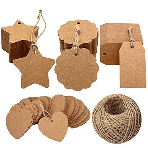 Gift Tags 400pcs Etiquetas Papel Kraft Tarjeta Etiquetas