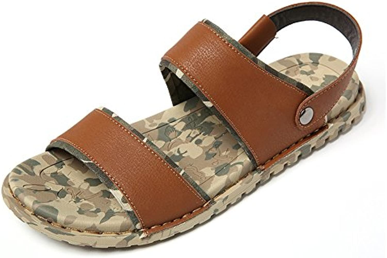 MAZHONG Sandalen Sommer Sandalen Einfache Casual Flat Outdoor Herren Sandalen ( Farbe : Gelb   größe : EU39/UK6.5
