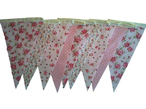 rose-vintage-floral-mix-coton-simple-face-shabby-chic-bunting-longueur-de-20-pieds-6-metres