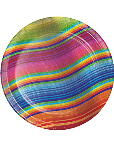 Generique - 8 Kleine Pappteller Mexiko Bunt 18cm