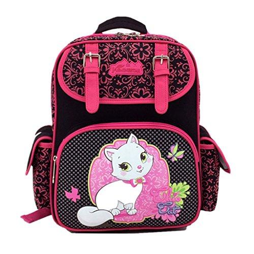 für Mädchen, Rucksack für Grundschule Mädchen Teen Rucksäcke wasserdichte Kinderrucksäcke, personalisierte Patten Umhängetasche für Reisen Wandern - Cut Cat ()