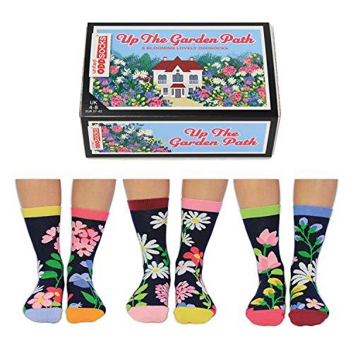 Blumen im Garten Oddsocks Socken in 37-42 im 6er Set - Strumpf