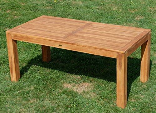 AS-S Wuchtiger Teak Bigfuss Gartentisch 180×90 Holztisch Teaktisch Garten Tisch Holz JAV-BIGFUSS180