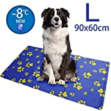 Cooling Mat for Dog Large (90x60cm), Pet Cool Mat Non-Toxic Gel Self Cooling Pad for meidum & Large Dog & Sleep Well