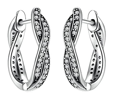 SaySure- 925 Sterling Silver Twist Of Fate Earrings