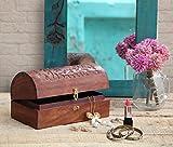 Diwali Gifts, Handmade Wooden Jewellery Storage Box With Intricate Floral Carving Multipurpose Keepsake Trinket Box Organiser
