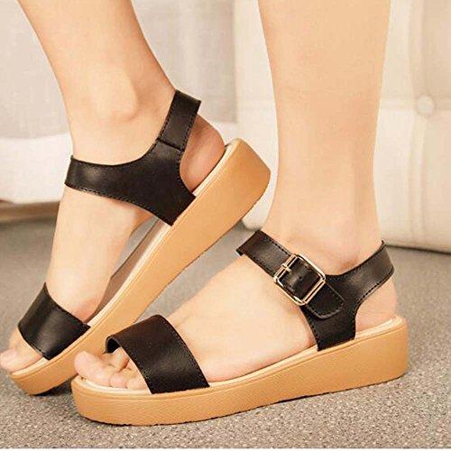 Estate Sandali Sandali delle signore I sandali confortevoli delle donne incinte delle donne incinte sono semplici Colore / formato facoltativo Nero
