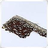1 Yard Natural Huhn Feder Applique Fringe Spitze Handwerk DIY 5-8 Cm