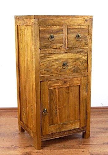 Java Kommode aus Teakholz | Schubladenschrank aus Massivholz | Garderobenschrank der Marke Asia Wohnstudio | Teakholzschrank | Badezimmer- Schlafzimmer Kommode | (Handarbeit)