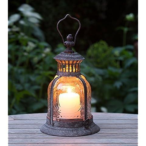 Rustico Fleur De Lys Lanterna da giardino
