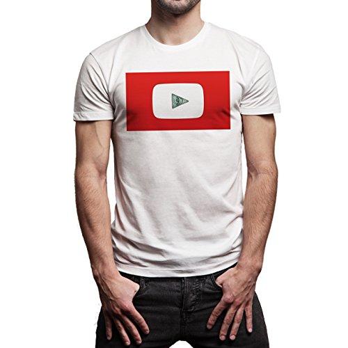 Illuminati Triangle Art Majestic You Tube Background Herren T-Shirt Weiß