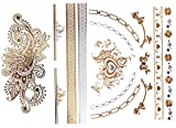 Goldtattoo Temporary Tattoo Hauttattoo YS-28+29 Modeschmuck FLASHTATTOOS GOLD Party / Fasching