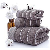 Microfibra toalla para la cara juego de 3 piezas Hojas de secado rápido toalla de baño