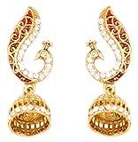 Touchstone Pendientes de joyas de pavo real de cristales esmaltados de...