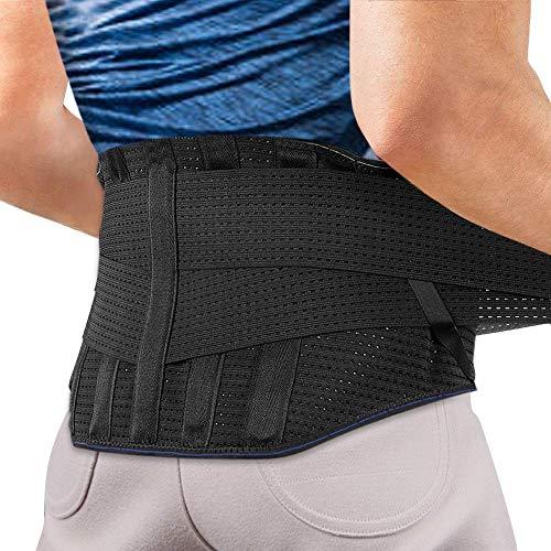 Cintura lombare di sostegno, agptek fascia lombare supporto schiena aiuta a dare sollievo a dolore lombare, sciatica, ernia al disco etc per uomini e donne, taglia xl